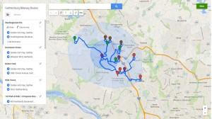 Gaithersburg Bikeway Routes